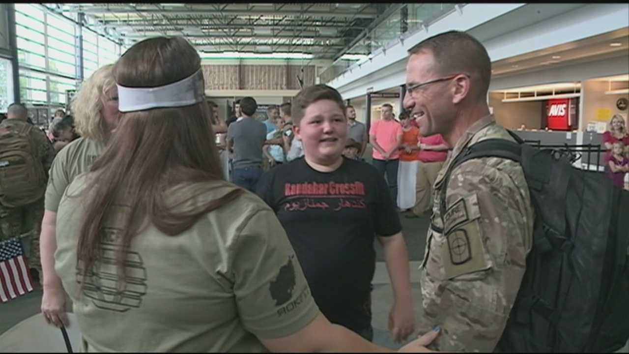 40/29 caught up with several families as they welcomed home their military heroes.