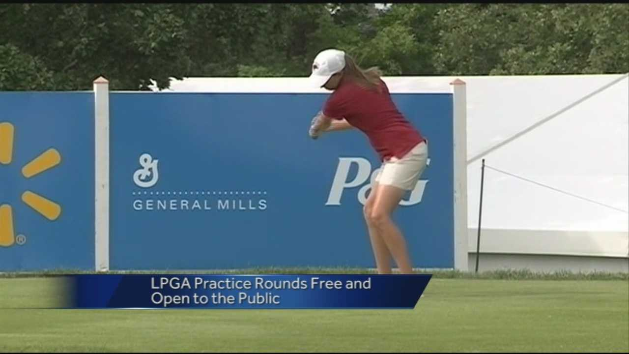40/29 News' Ugochi Iloka is in Rogers where practice rounds begin today for the LPGA.