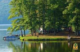 Lake Catherine State Park in Hot SpringsNestled in the natural beauty of the Ouachita Mountains on 1,940-acre Lake Catherine, one of the five popular Diamond Lakes in west central Arkansas, Lake Catherine State Park features many CCC/Rustic-style facilities constructed of native stone and wood by the Civilian Conservation Corps (CCC) in the 1930s.