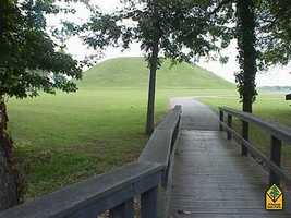 Toltec Mounds Archeological State Park in ScottA National Historic Landmark, the Toltec Mounds site comprises one of the largest and most impressive archeological sites in the Lower Mississippi River Valley. Preserved there are Arkansas's tallest American Indian mounds. Three mounds remain where 18 once stood surrounded by an earthen embankment eight to ten feet in height, a portion of which is still visible today.