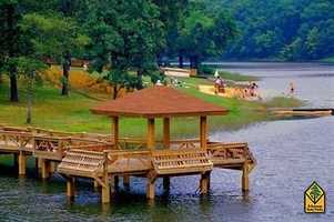 Woolly Hollow State Park in GreenbrierWoolly Hollow State Park connects you to 40-acre Lake Bennett. Enjoy swimming, fishing, and floating in the peaceful waters in the foothills of the Ozark Mountains.The park offers canoes, kayaks, pedal boats, and fishing boats for rent.