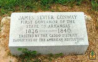 Conway Cemetery State Park in Lafayette CountyConway Cemetery State Park preserves the final resting place of James Sevier Conway (1796-1855), Arkansas's first governor. The cemetery was the family plot located at the former Conway homesite, a large cotton plantation named Walnut Hill.