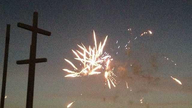 Cross Church puts on fireworks display