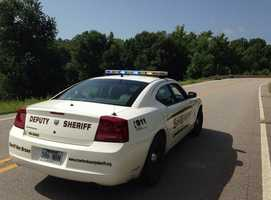 Highway 348 was shut down while Fort Smith bomb squad detonated bombs.