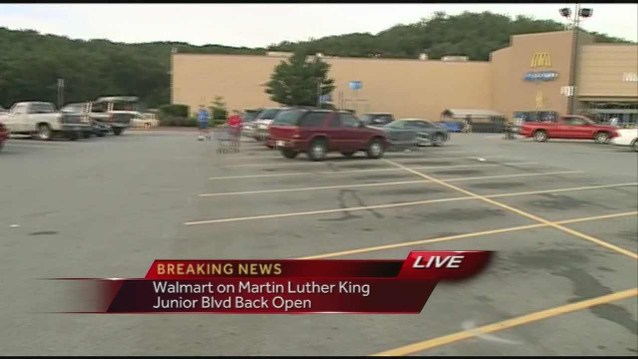 40/29 News' John Paul was at the Walmart on Martin Luther King Junior Boulevard where police responded to a bomb threat.