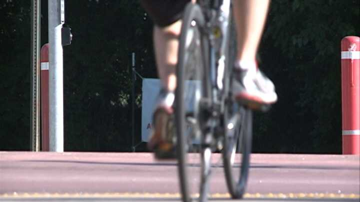 Teen suffers minor scrapes after car crashes into bike