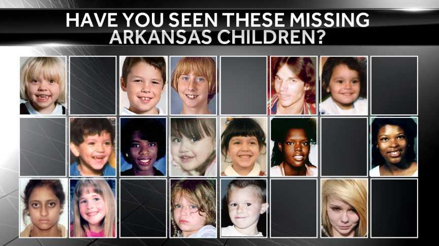 The following is information on missing children in Arkansas from the National Center for Missing & Exploited Children.