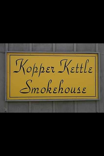 Kopper Kettle Smokehouse is located right next door to Kopper Kettle Candies which has been making candies since 1925.