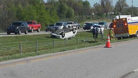 Rollover accident on I-49