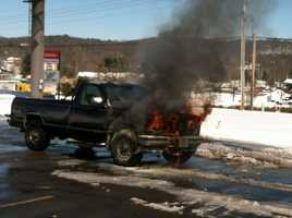 Truck fire in Bella Vista