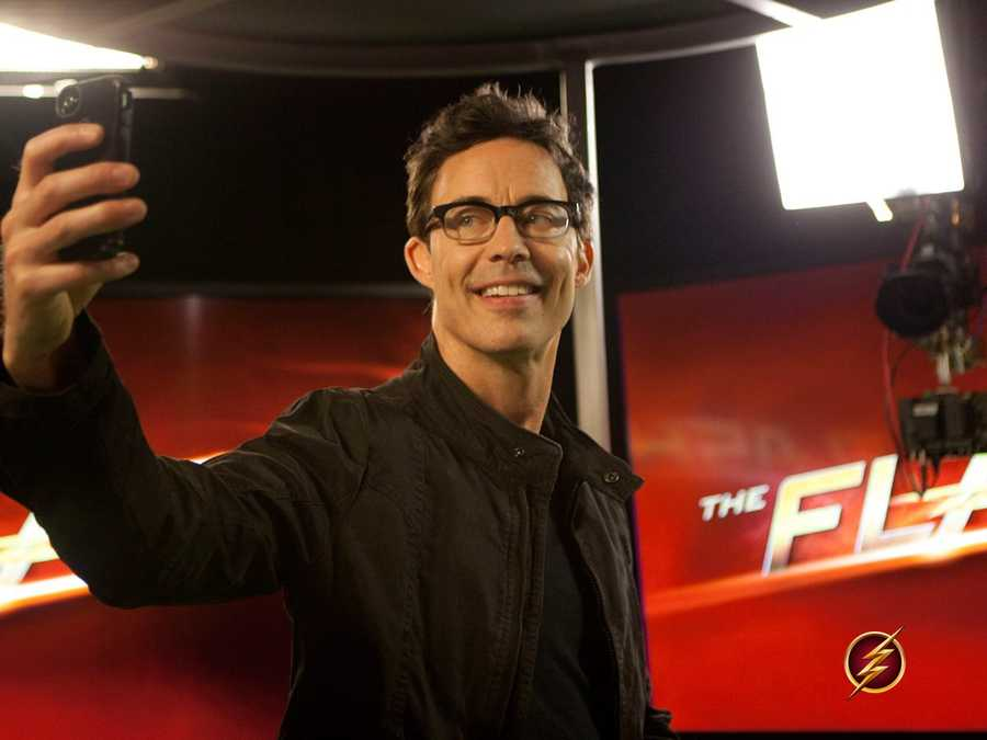 Tom Cavanah doesn't always take selfies!  Tom Cavanah plays Harrison Wells on the upcoming new series The Flash!  Coming this fall-October 7th at 7 pm to the Arkansas CW!