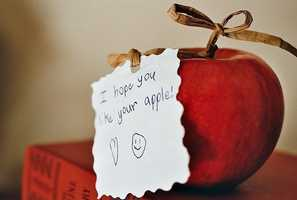 The tradition of giving apples to teachers reportedly dates back to the 16th century in Denmark, where parents would pay their educators with food, because teachers couldn't live off their small salaries.