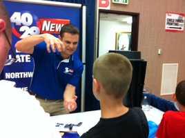 Meteorologist Brad Carl at the Northwest Arkansas Emergency Preparedness Fair