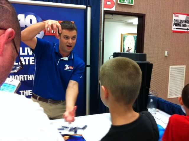 Meteorologist Brad Carl at the Northwest Arkansas Emergency Preparedness Fair.