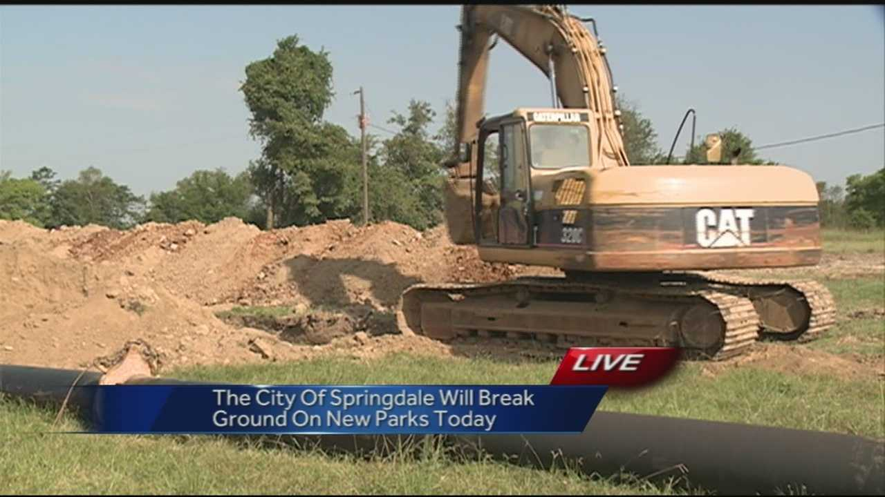 40/29's Brad Carl is in Springdale where the city is breaking ground on a new park today.