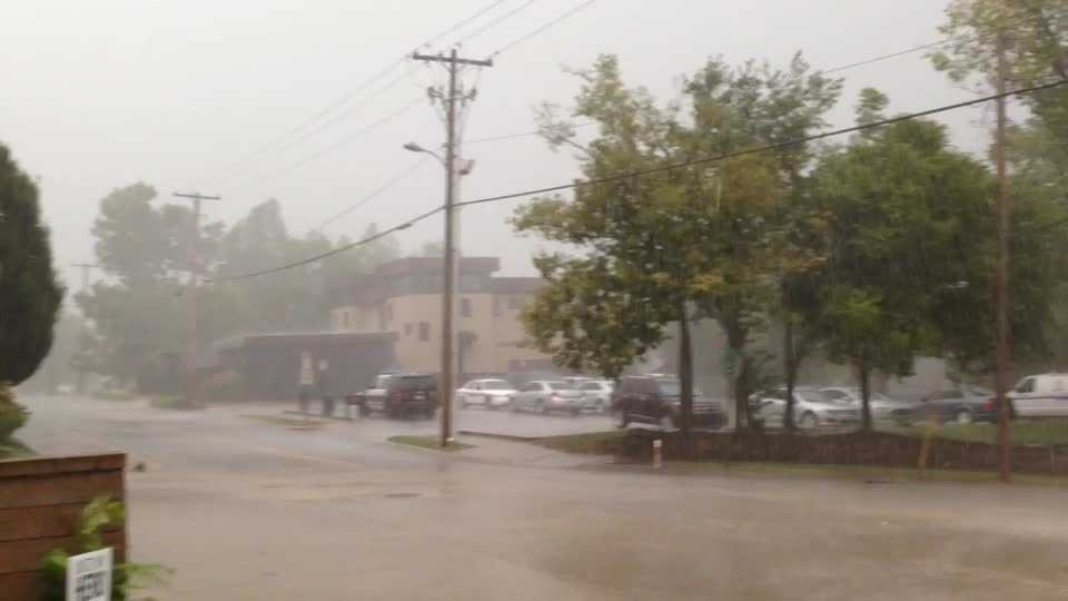 WX Downtown Fayetteville Storms