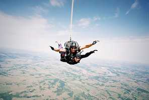 Skydiving: A standard package of 7-10 jumps costs about $1,500, according to Skydiving Magazine.