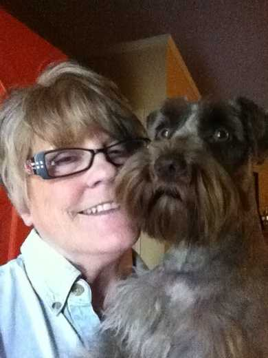 Hangin' with the Oz Monster - One of my mini-schnauzers Ozzie - named after the great Cardinal shortstop Ozzie Smith