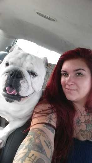 Pegasus and me, he's more than just an English Bulldog. He's my best friend, my peacemaker, and my Co pilot what more can I ask for.