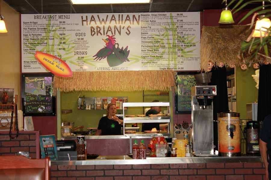 Hawaiian Brian's!  Need help choosing?  There's your girl, Shanea!  She's awesome, and happily serious about their food!!