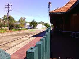 The Excursion Train's intended destination, the Van Buren Depot.