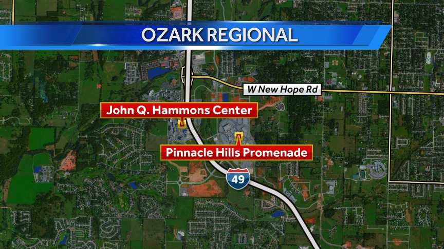 The Ozark Regional Arts & Crafts Festival at the John Q. Hammons Center in Rogers will be open 9 a.m. to 9 p.m. Fri., Oct. 17 and Sat., Oct. 18.