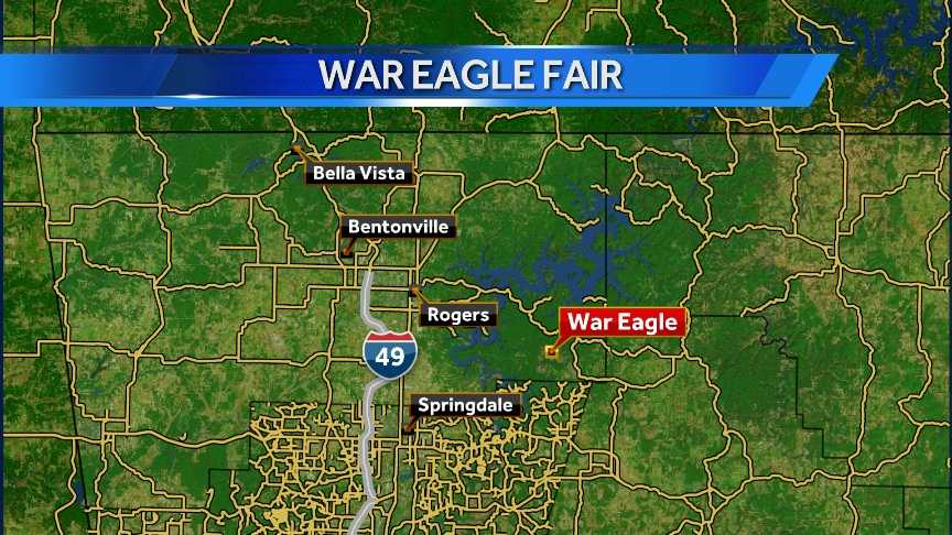The War Eagle Fair is along the War Eagle River and War Eagle Mill.