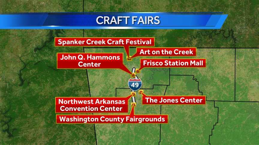 There are craft fairs are 10 different locations in Northwest Arkansas this weekend.