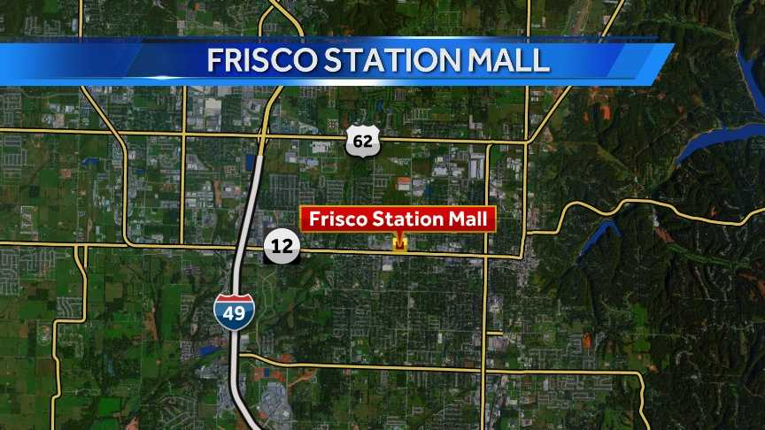 The Frisco Station Mall is located at 100 N. Dixieland Road in Rogers.