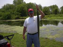This record 4 pound, 12 ounce American Eel was caught in the Arkansas River in 2002 by Gregg Armstrong.