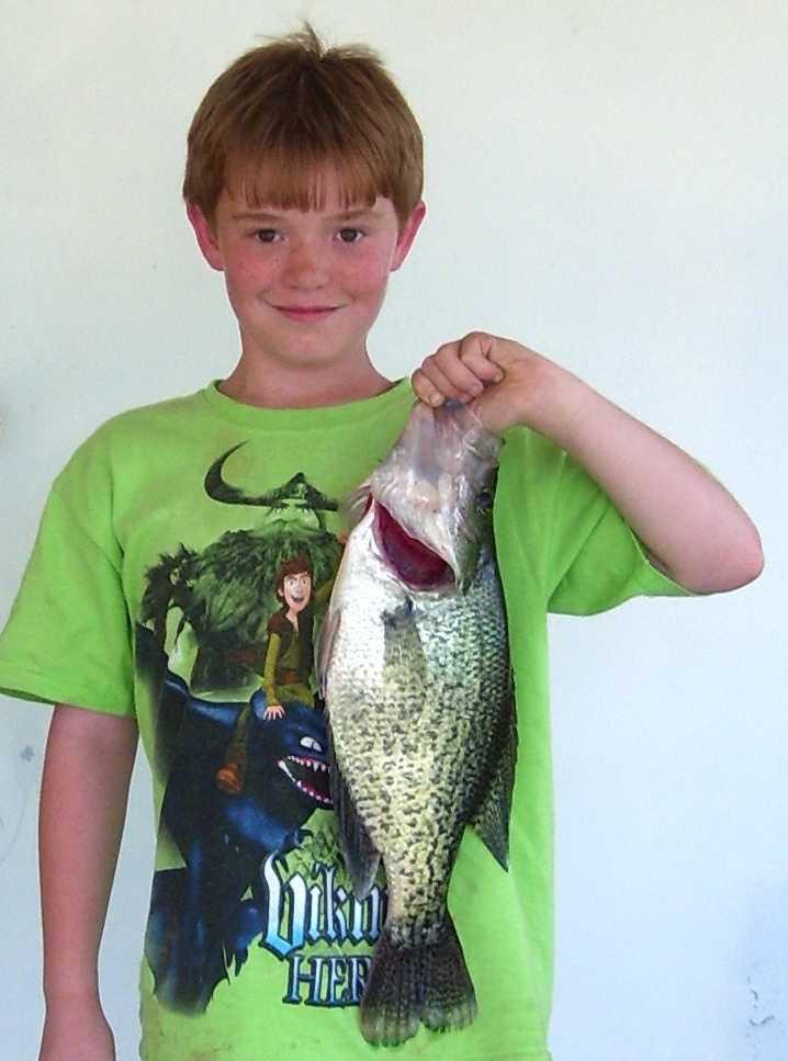 Donivan Echols caught the record 5-pound Black Crappie at Lake Wilhelmina in 2011.