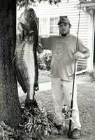 This record 116-pound, 12 ounce Blue Catfish was caught in the Mississippi River by Chris Ashley Jr. in 2001.