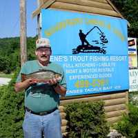 The state record Brook Trout weighed 5 pounds, and was caught in the North Folk River by Billy J. Meeks