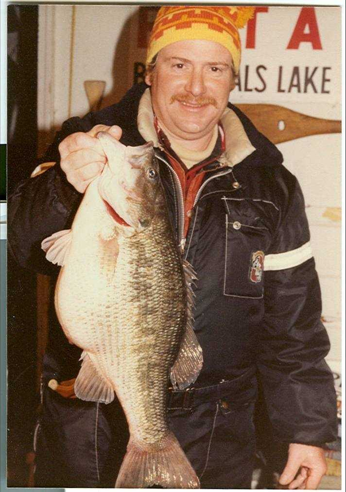 This 7-pound, 15-ounce Spotted Bass set the state record when Mike Heilich caught it at Bull Shoals Lake in 1983.