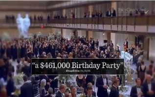 CLAIM: An ad from the Democratic group Jobs and Opporunity said Asa Hutchinson allowed $461,000 in tax dollars to be spent on a brithday party.