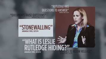 """FACT: A supervisor put a note on her file after Rutledge resigned from her job in 2007 to work on Mike Huckabee's presidential campaign. She said the note was """"a partisan attempt to undermine me."""""""