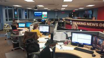 Behind the Scenes: The 40/29 Newsroom is hard at work today. Election Day is the Super Bowl for journalists!