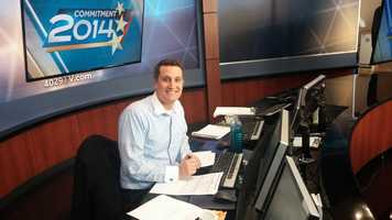 Behind the Scenes: 40/29 Meteorologist Drew Michaels putting together our Election Night forecast.