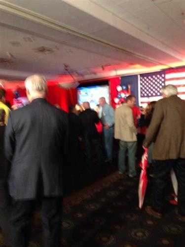 Some of the excited tom Cotton supporters after hearing networks call the race for him.