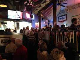 Big crowd packed in here at Democratic AG candidate Nate Steel's campaign HQ.