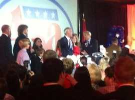 Asa Hutchinson giving acceptance speech in Little Rock, says election is about a new day in Arkansas