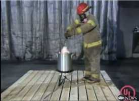The Department of Homeland Security released a video in 2011 warning Americans about the dangers of deep-frying turkey.