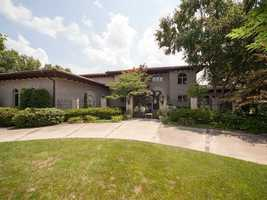 The 1.03 acre estate lot overlooks the 7th green of the Pinnacle Country Club.