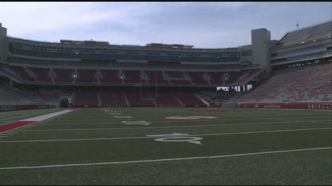 FILE image of Razorback Stadium