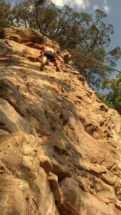 I LOVE climbing. This picture was taken near Jamestown, Arkansas.