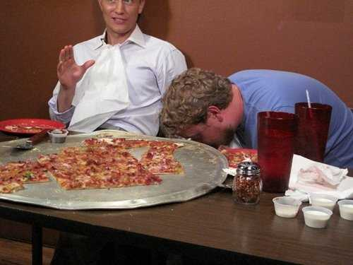 While working in Little Rock I took the Gusano's Pizza Challenge. The pizza was massive and we had to eat it within an hour. A friend of mine found the challenge more than his stomach could bare. Needless to say, we were not victorious.