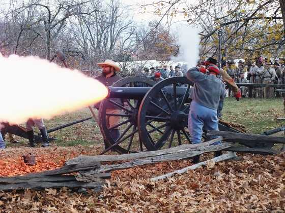 See the Battle of Prairie Grove Reenactment on December 6 and 7.
