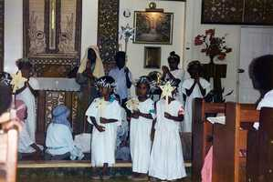 Go to a church pageant, Midnight Mass or other Christmas event.