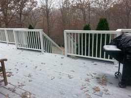 Snow in Bentonville Sunday