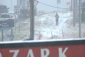 The snow started coming down hard in Springdale Sunday afternoon.